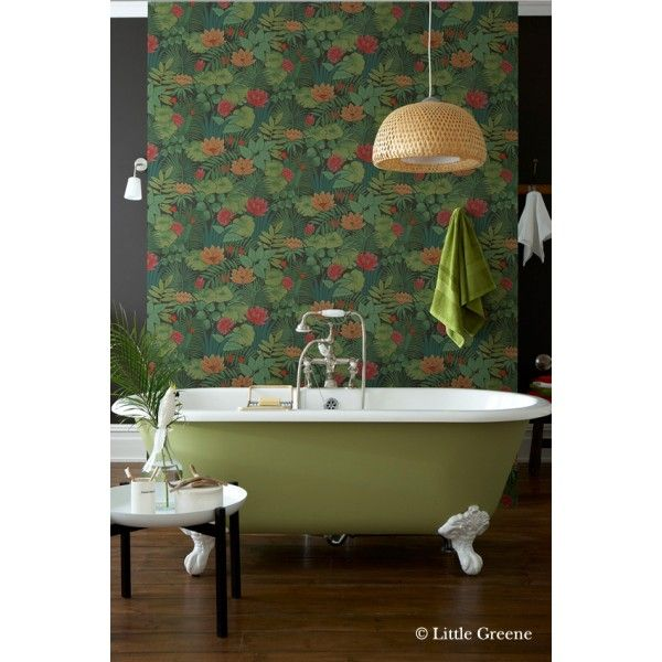 reverie jungle papier peint retrospective papers de little greene papier peint vert papier. Black Bedroom Furniture Sets. Home Design Ideas