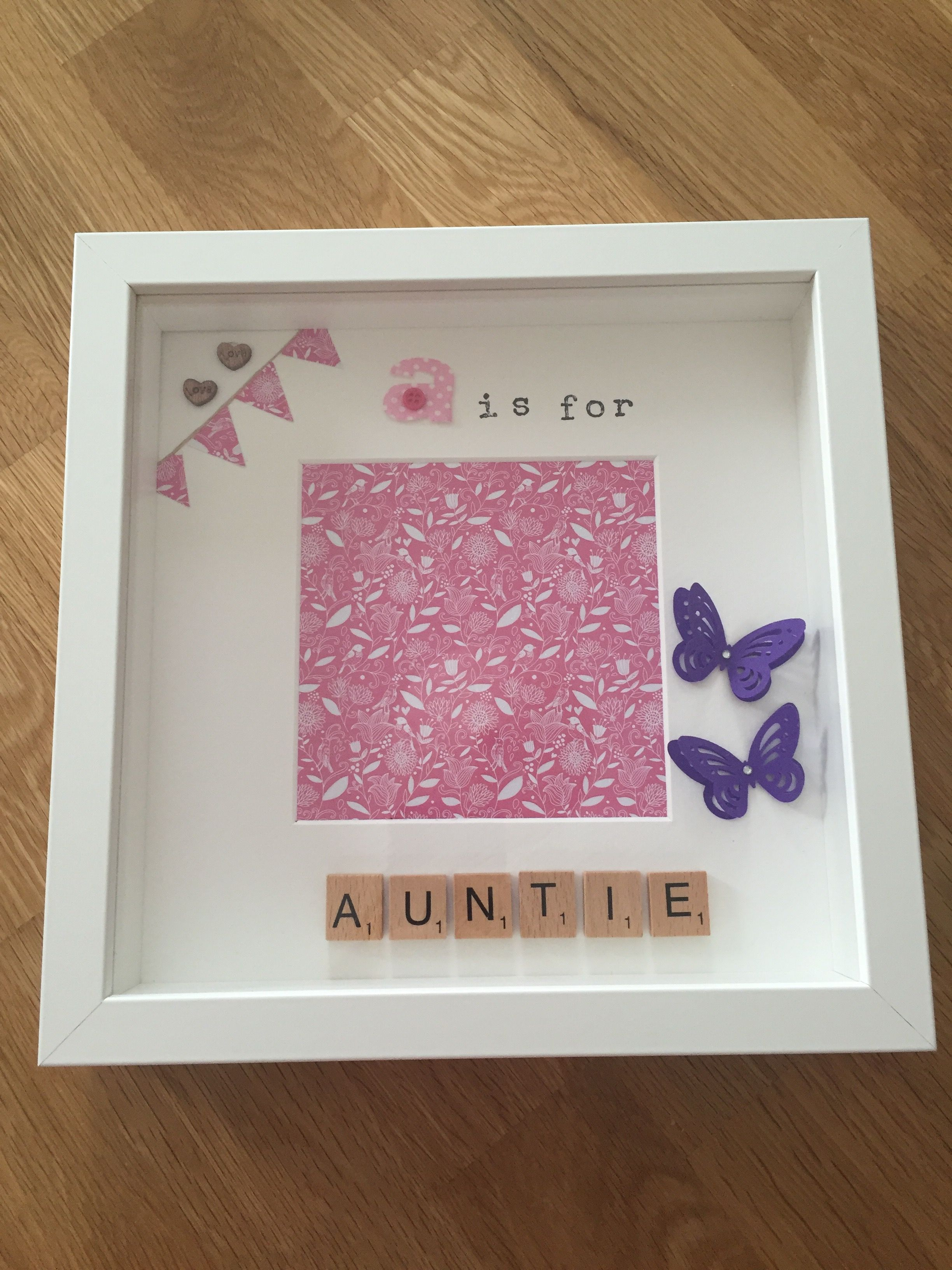 A is for auntie handmade personalised memory frame for Handmade picture frame ideas