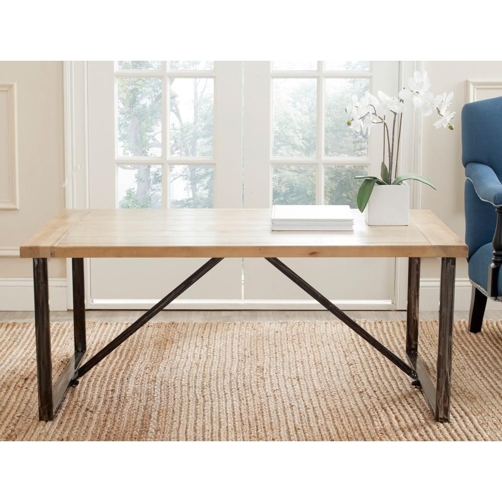 Safavieh Chase 49 In Light Oak Large Rectangle Wood Coffee Table Amh4129a The Home Depot In 2020 Natural Wood Coffee Table Coffee Table Coffee Table Wood [ 1000 x 1000 Pixel ]