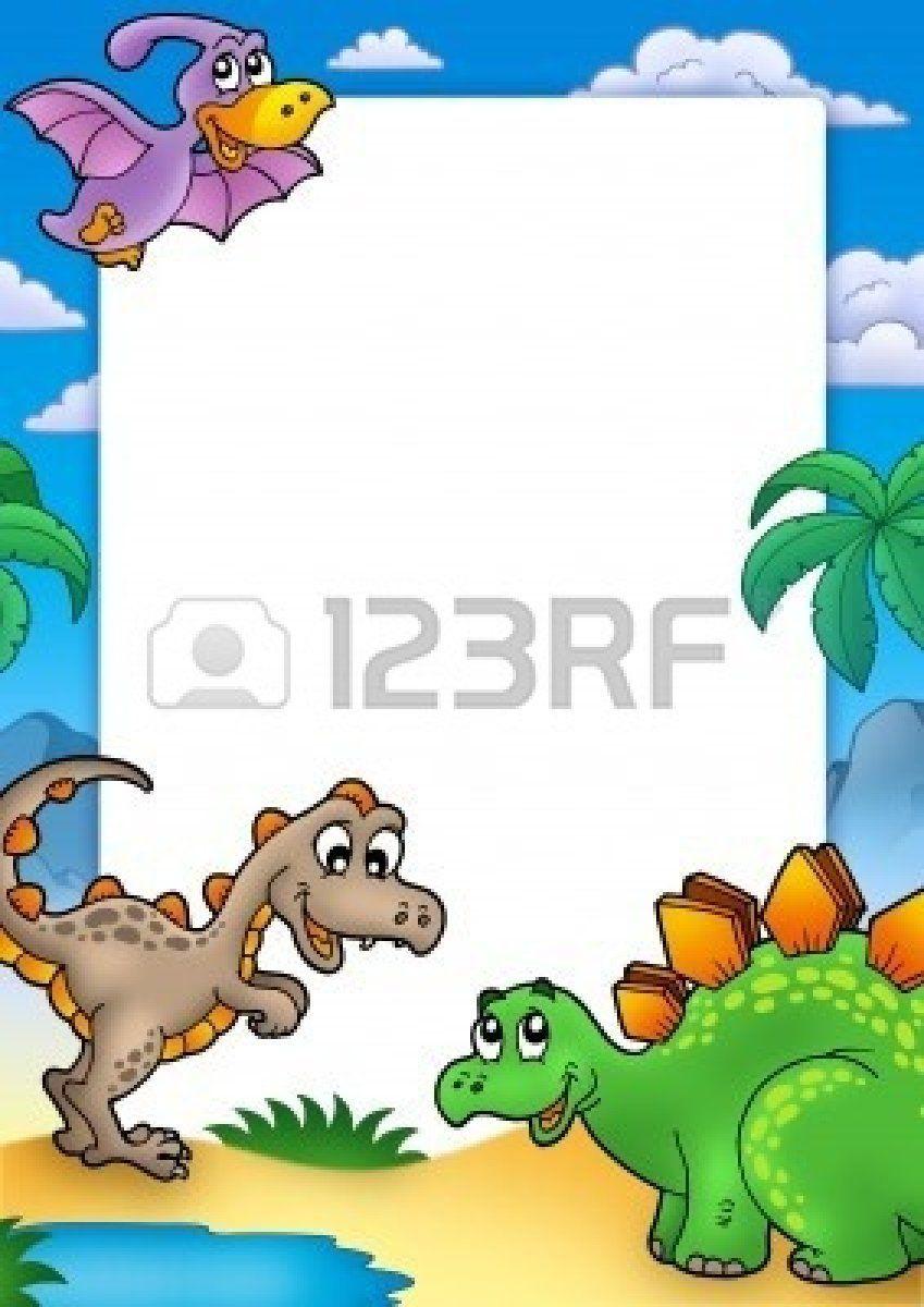 Dinosaurios para marcos | enmanuel | Pinterest | Marcos, Marcos ...