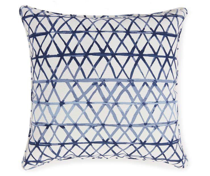 Zola Navy Blue Crossing Line Outdoor Throw Pillow Big Lots