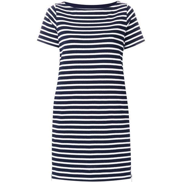 Sacai Cotton Striped Dress ( 665) ❤ liked on Polyvore featuring dresses 14ef4990b74b
