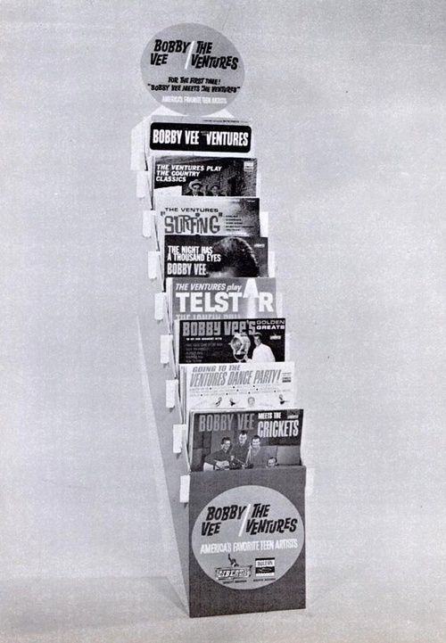 Bobby Vee And The Ventures Record Store Display 1963