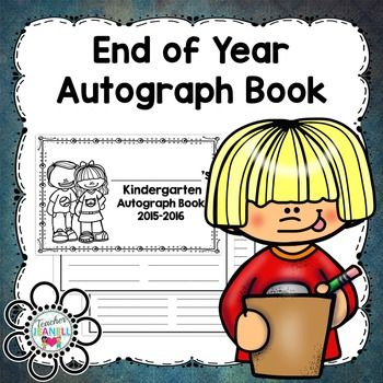 This autograph book is a great way for students to remember their classmates.