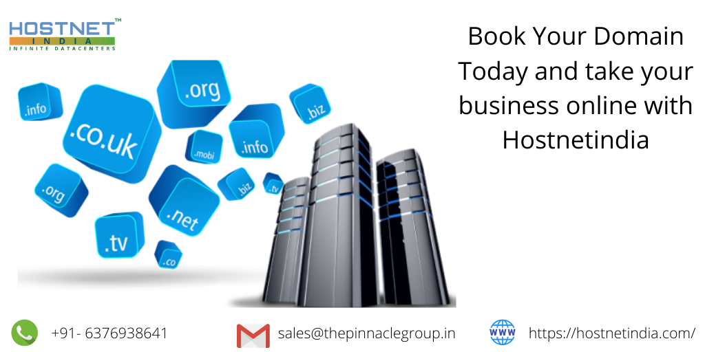 Book Your Domain Today And Take Your Business Online With Hostnetindia Online Business Buy Domain Hosting Company