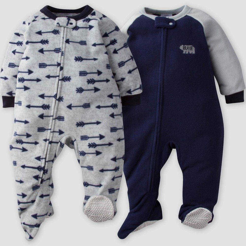 9dcc0c9d0 Gerber Baby Boys  2pk Arrows Micro Fleece Blanket Sleeper - Blue ...