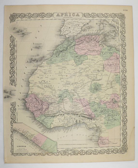 Antique nw africa map sahara desert map sudan liberia map morocco antique nw africa map sahara desert map sudan liberia map morocco 1881 colton map freerunsca Gallery