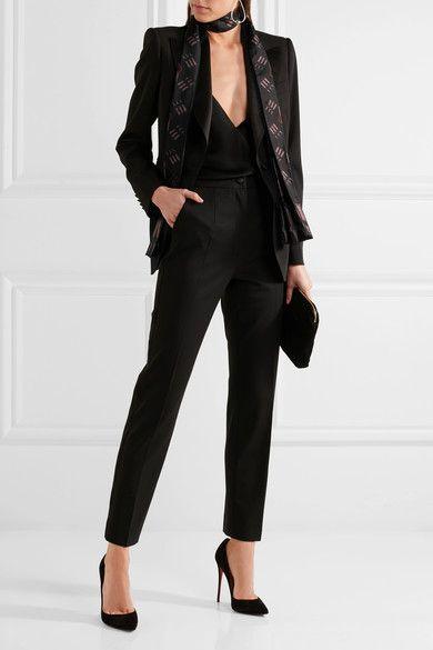 Valentino - Printed Silk Scarf - Black - one size