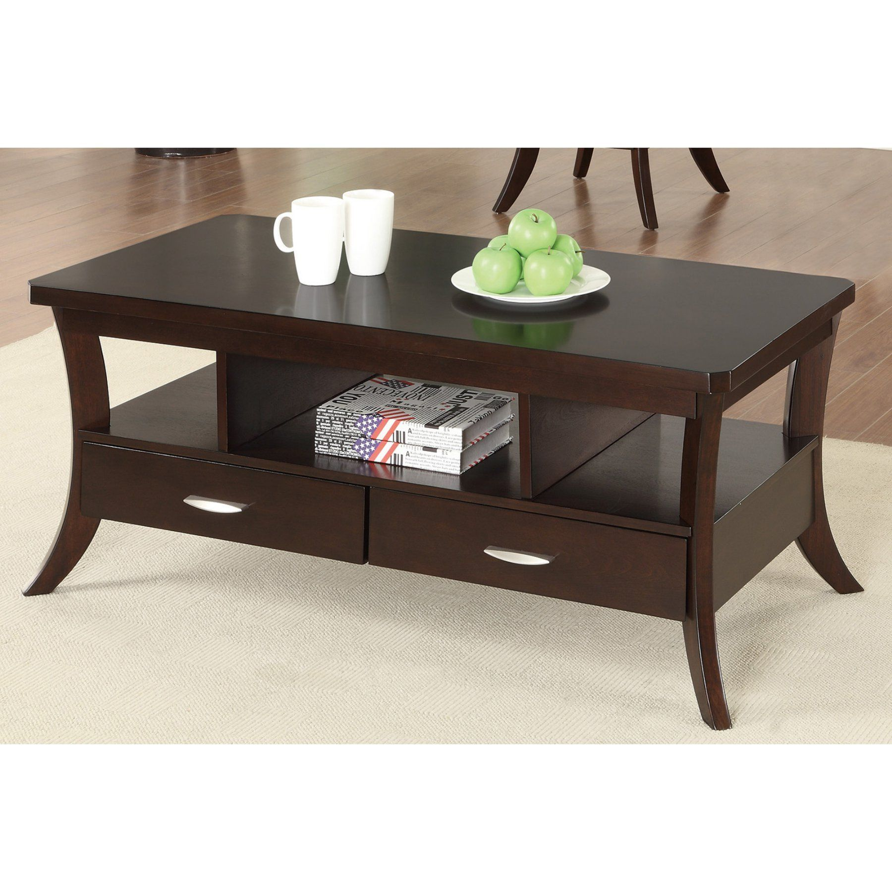 Coaster furniture wood coffee table espresso 702508