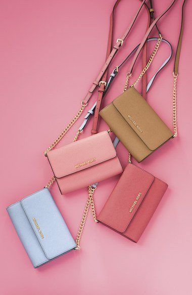 bc724ac5b7c8 These colors are perfect for Spring!! Michael Kors Jet Set Travel' Saffiano  Leather Crossbody Bag