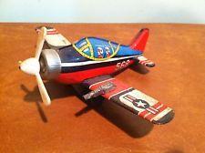 Vintage Tin Litho Toy Friction Fighter Plane USAF
