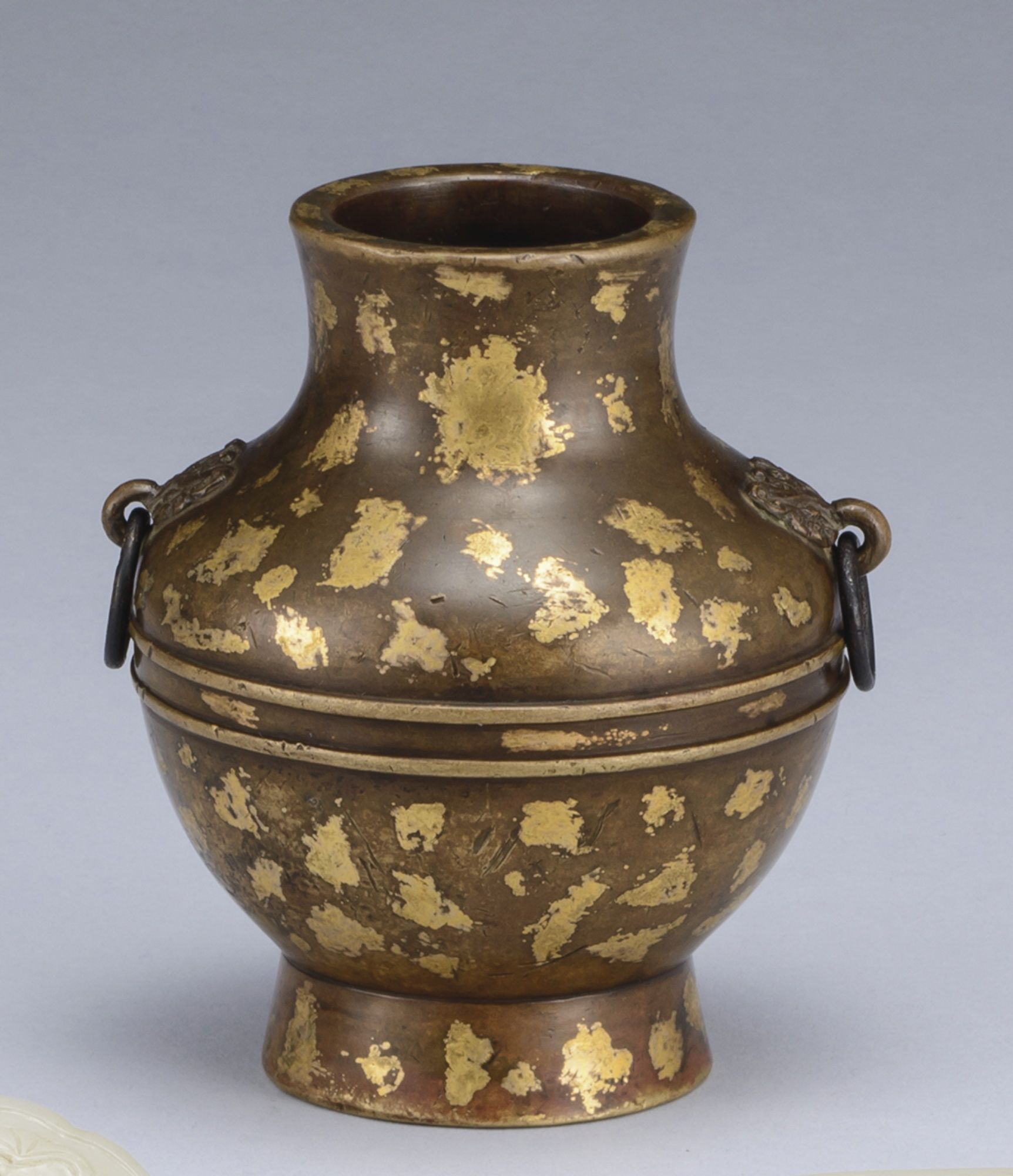 Lot | Sotheby's An Archaistic Gold-Splashed Bronze Censer, Hu Qing Dynasty, 17th / 18th Century.