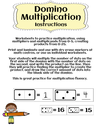 Worksheets to practice multiplication fluency using multiplicands ...