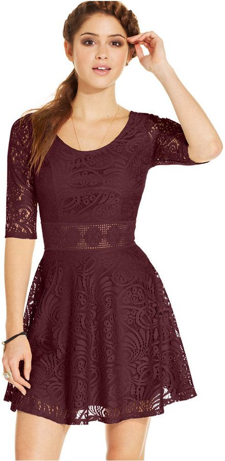 823ca74653 American Rag Lace Skater Dress
