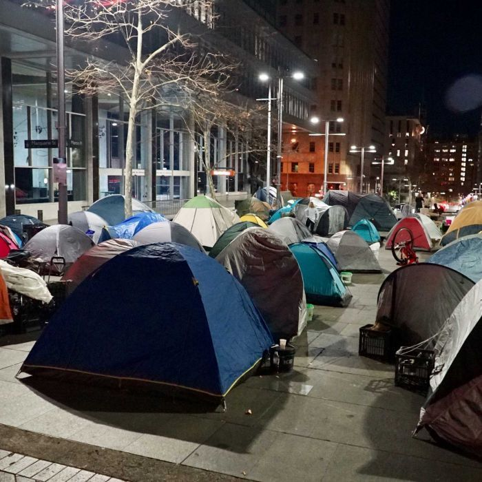 New laws could demolish tent city by end of week | gentrification