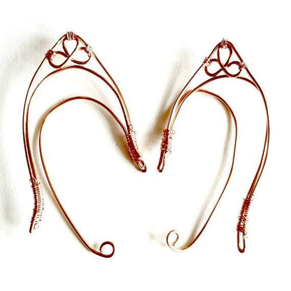 Copper Elf ears handmade wire metal elf ear by AuntMatildasJewelry, $22.50