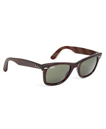 9c6de61a25 Brooks Brothers Unisex Ray-Ban® Wayfarer Sunglasses with Burgundy BB 1 Repp  Stripe
