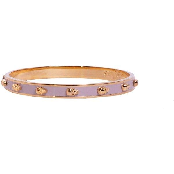 Alexander McQueen Bracelets ($180) ❤ liked on Polyvore featuring jewelry, bracelets, oro, brass jewelry, alexander mcqueen bangle, skull jewelry, alexander mcqueen jewelry i brass bangles