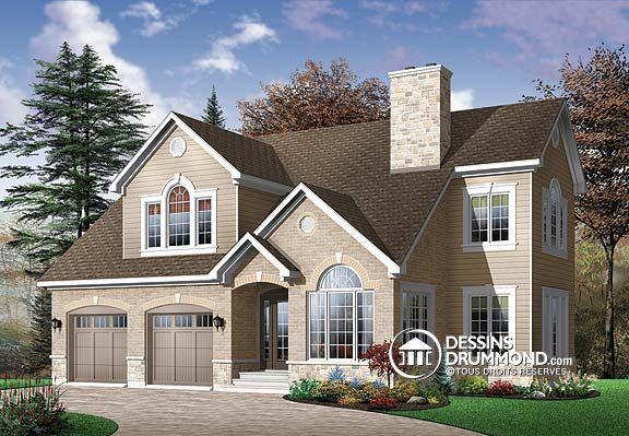 D tail du plan de maison unifamiliale w2677 houses for Maison eplans