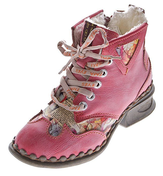 Damen Leder Comfort Knöchel Schuhe TMA 5195 Halb Schuhe