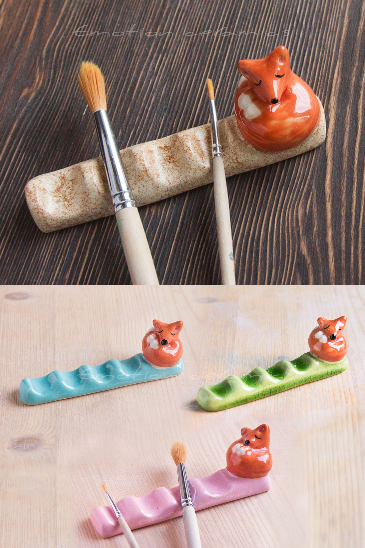Watercolor Brush rest holder ceramic