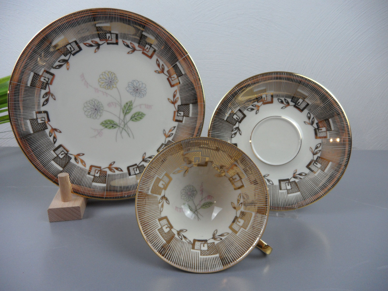 Old Collection Cup Collection Deck Schirnding Porcelain For Collectors Mid Century Coffee Deck Gift Communion Wedding 50s Gold Sammeltassen Tasse Und Untertasse Tassen