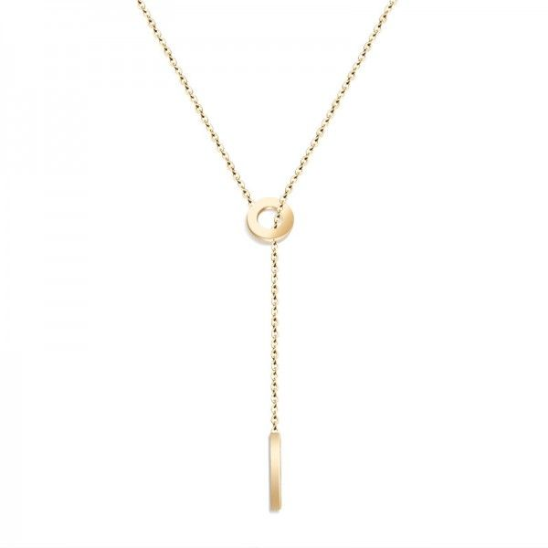 Yellow Gold Hollow Round Pendant Necklace #Necklace #Holidays #Party #Coupons