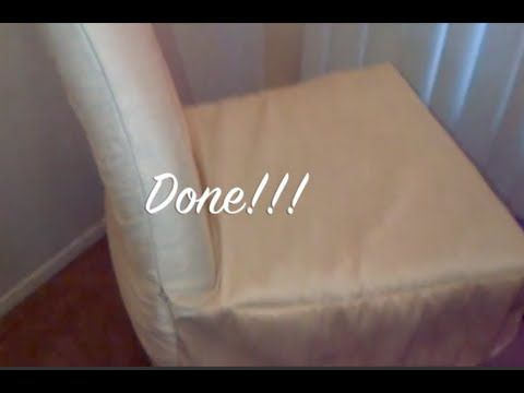 In This Video I Show You How To Make A Chair Cover For Your Dining Room