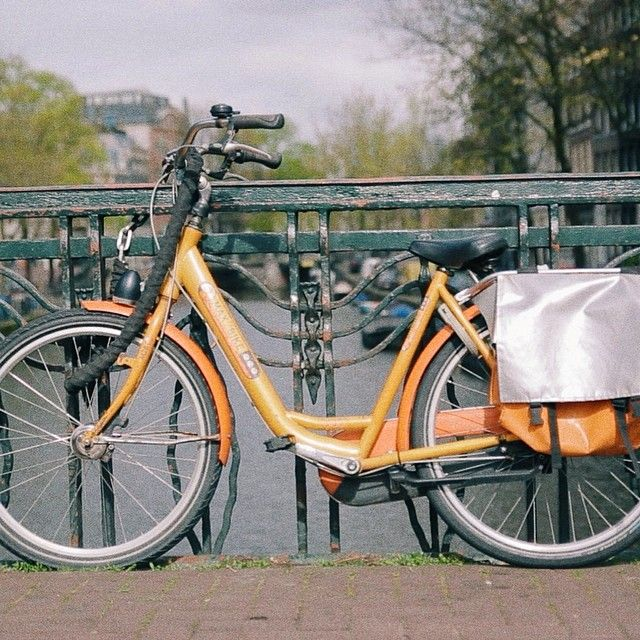 busabouteuropeAmsterdam - bikes in every colour, including our favourite. #HopOn