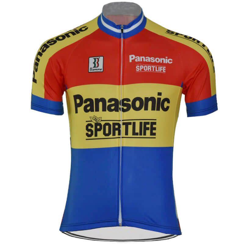37c0ab110 Retro Team Panasonic Sportlife Cycling Jersey