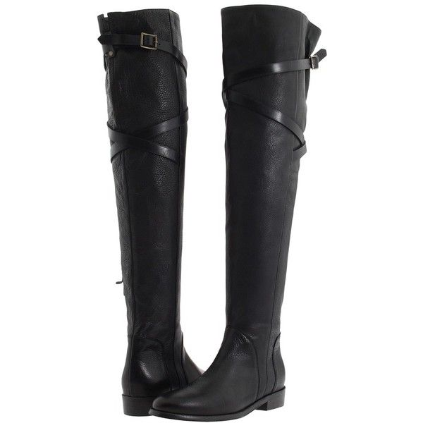d189870956d Burberry Grainy Leather Over The Knee Boots found on Polyvore ...