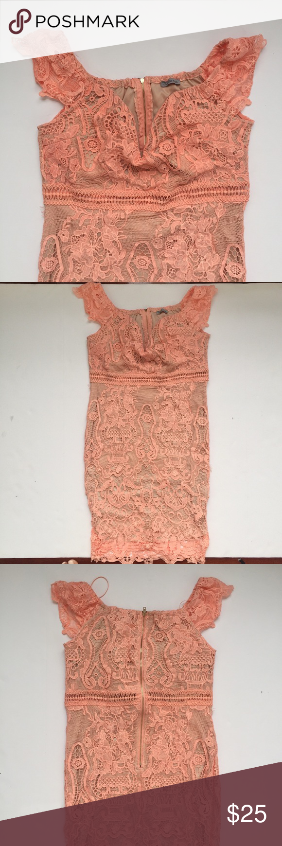 Lace/Embroidered Cocktail Dress Beautiful cocktail dress with off ...
