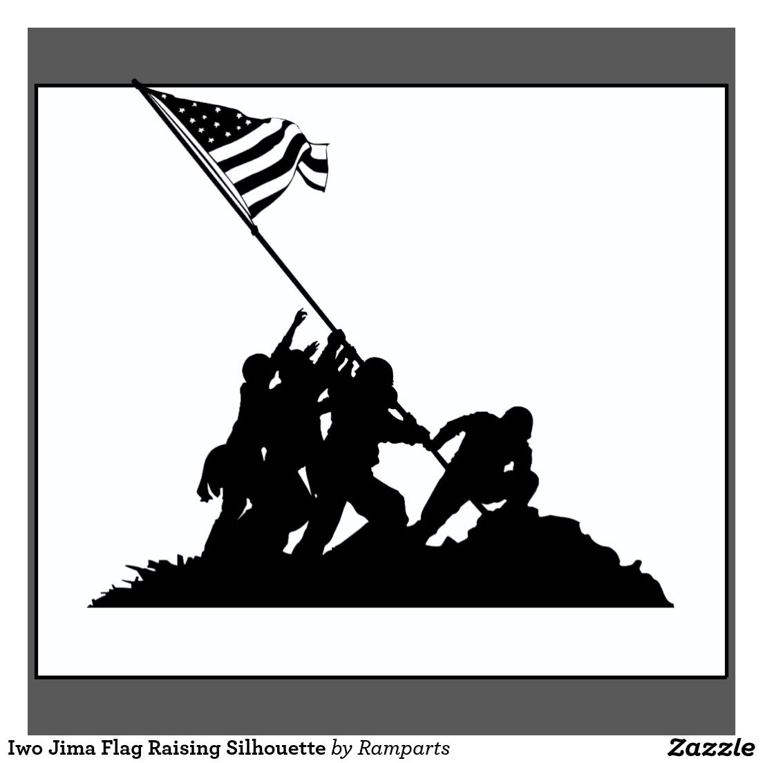 The Gallery For Iwo Jima Silhouette Silhouette Vector Iwo Jima Silhouette Painting