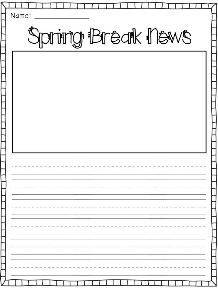 A *Spring Break* Freebie - For the Love of First Grade Seasonal - writing template