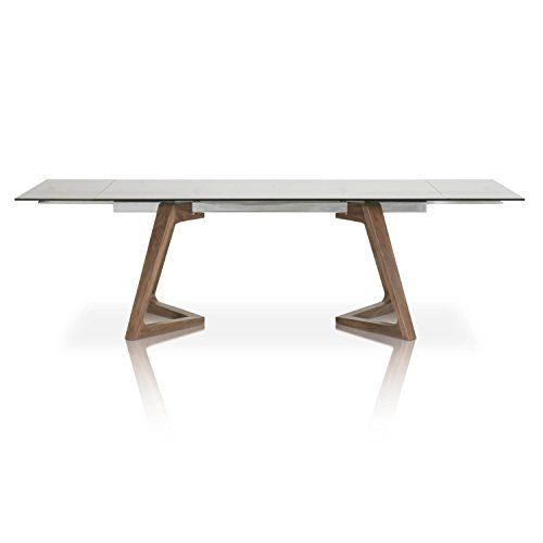 High Quality Star International Furniture 1602 DT.WAL/SGRY Axel Extension Dining Table,  Walnut/Stainless Steel/Smoke Grey Glass | Dining Room | Pinterest | Room Idea