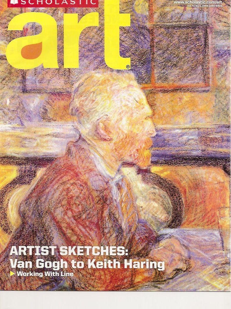 scholastic art magazine teachers edition vincent van gogh working with line sept oct 1999 scholasti art magazine teachers edition