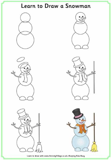 Pin By Engelsiz Zihinler On Nasil Cizilir Draw A Snowman Winter Drawings Christmas Pictures To Draw