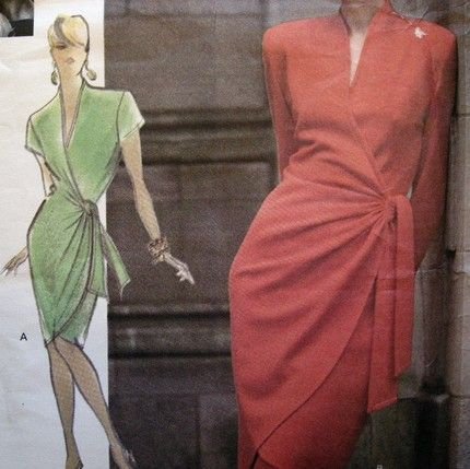 Etsy :: Empresspatterns :: Sexy Wrap Dress, Vogue Attitudes Pattern 2568, Size 12, 14, 16- Love this dress!