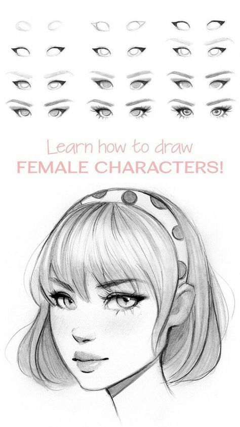 Female Faces Expressions Drawings In 2020 Eye Drawing Tutorials Sketches Tutorial Face Drawing