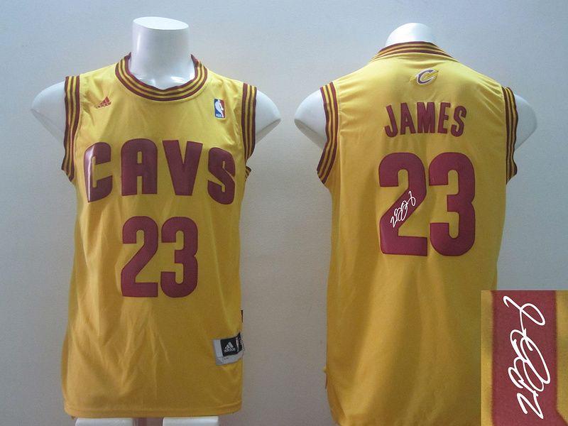 reputable site 4835c 54cbb Men's NBA Cleveland Cavaliers #23 Lebron James Yellow ...