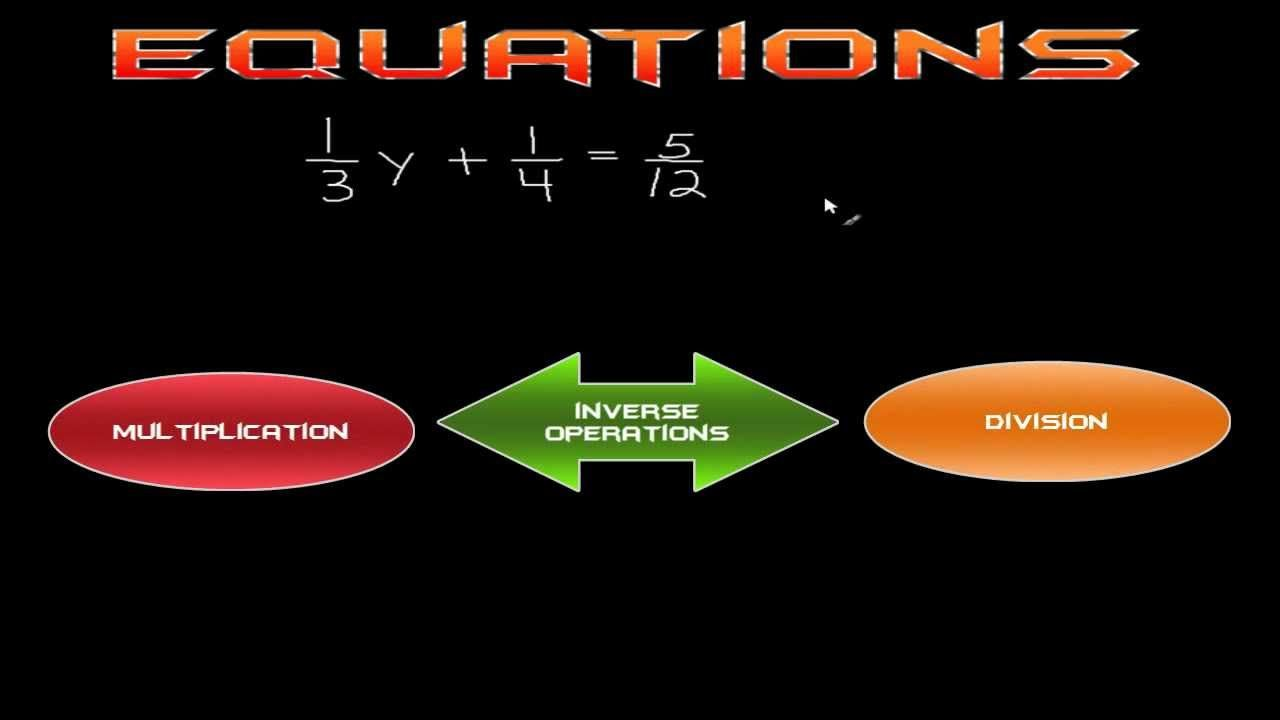 How To Solve Equations With Fractions The Easy Way Literal Equations Solving Linear Equations Solving Equations