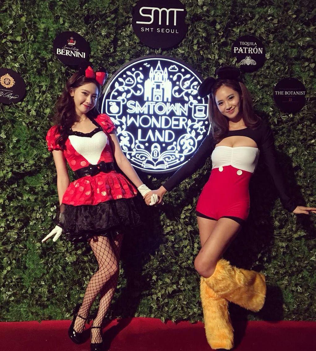 151029 smtown worldland halloween party snsd yoona yuri from yoonas instagram update - Girls Halloween Party
