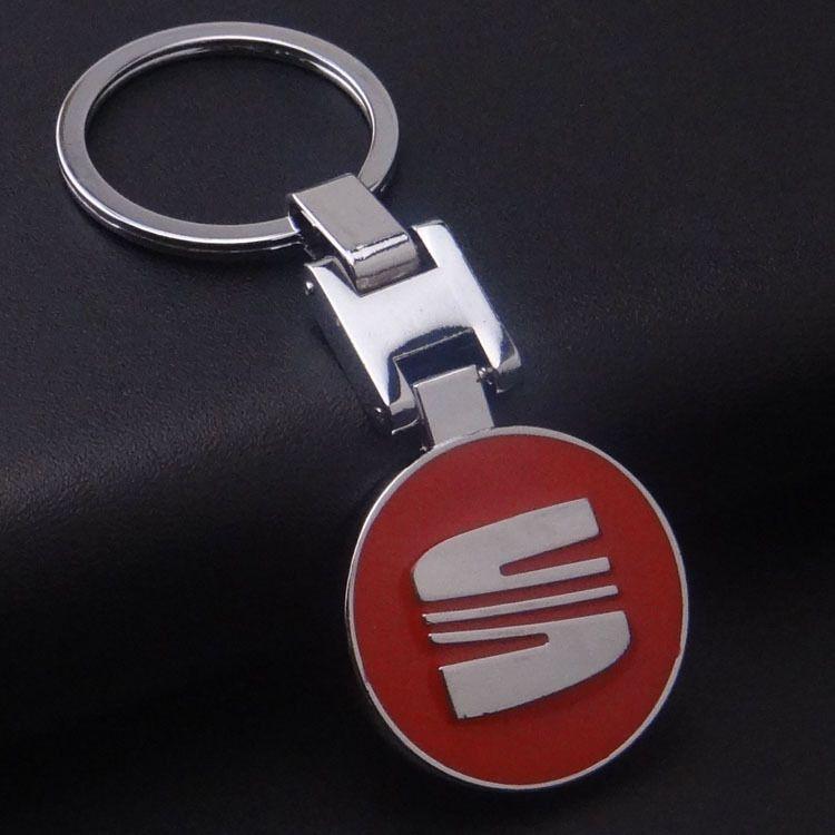 자동차 키 좌석 키 체인 llaveros 자동차 금속 열쇠 고리 좌석 엠블럼 자동차 로고 키 체인 링 좌석 Leon Ibiza
