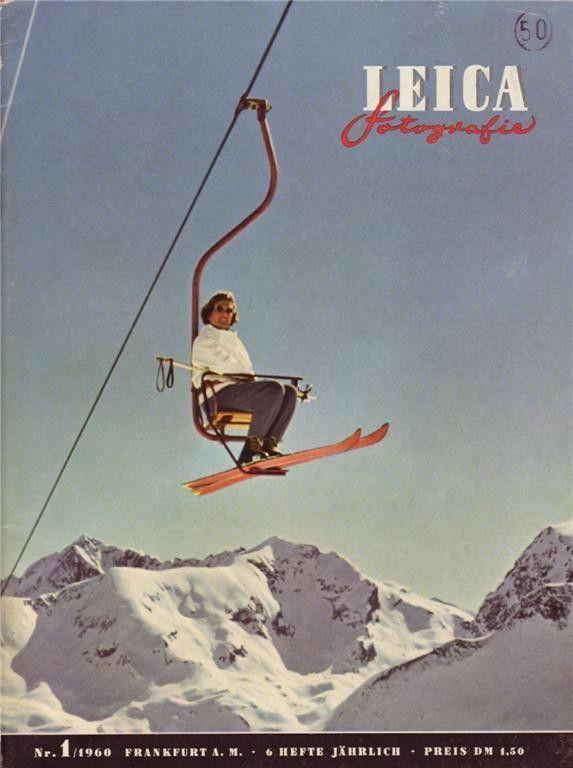 Leica Fotografie Magazine 1 1960 Film Winder Negatives Skiing Color