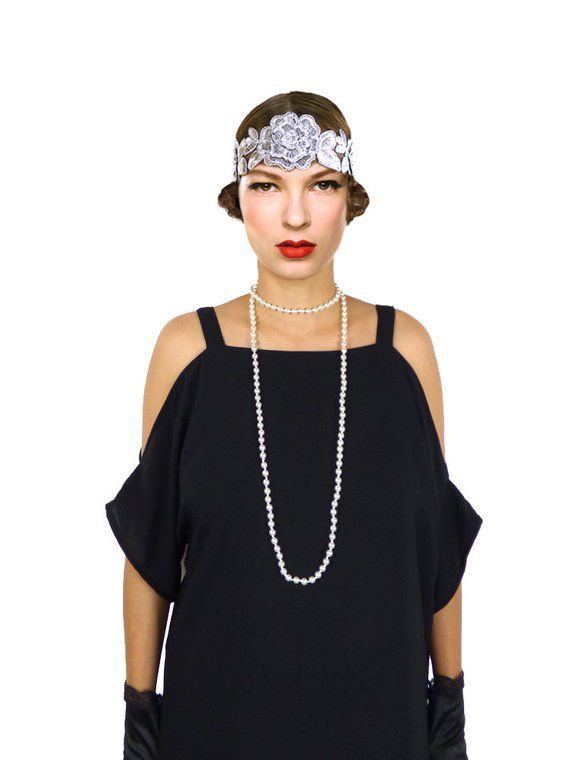 Retro Fler Dress Black Cut Out Shoulder Great Gatsby Fringe Costume 1920s Roaring 20s Downton Abb
