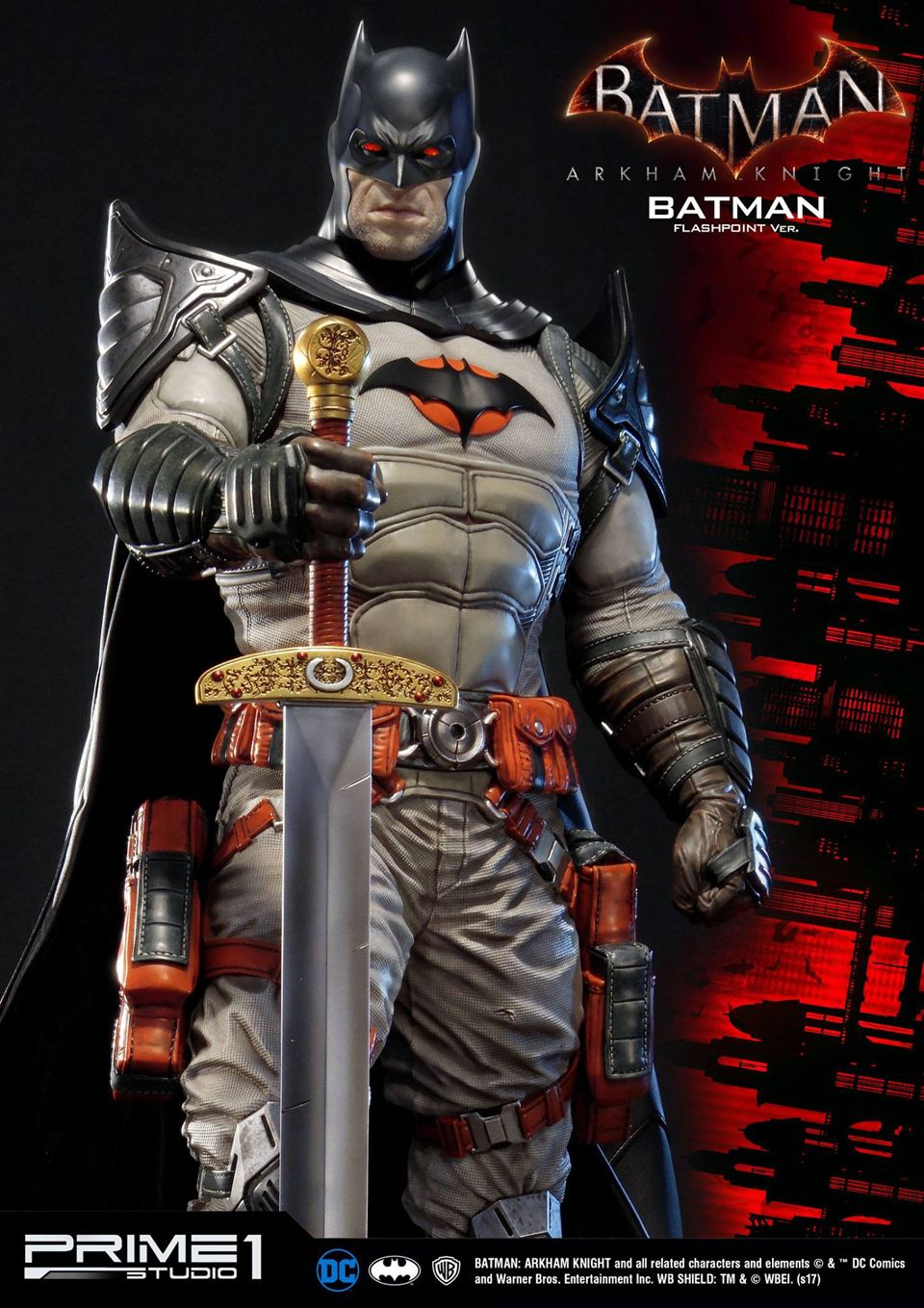 Prime 1 Batman Arkham Knight Flashpoint Batman Statue With