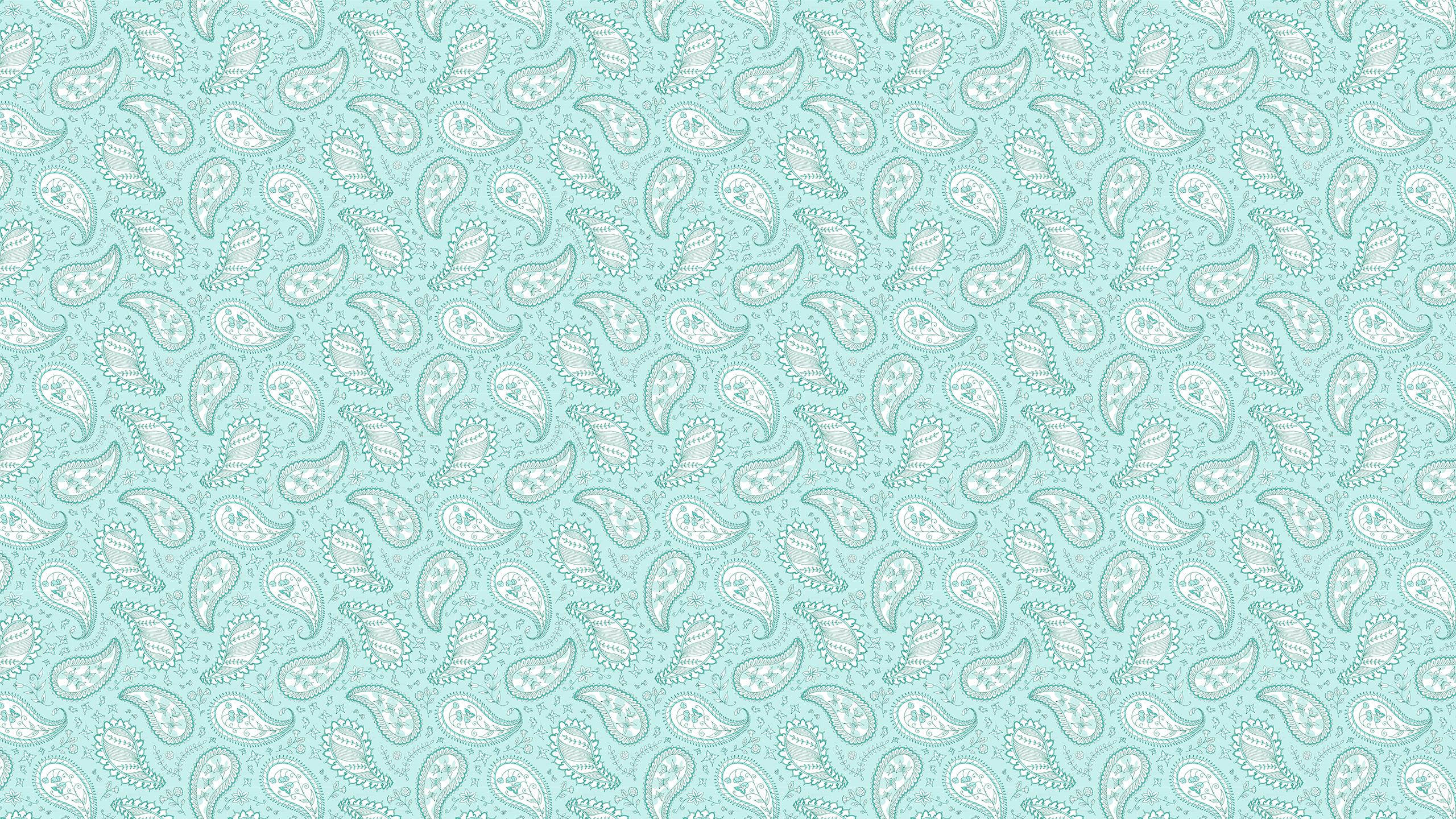 Mint Paisley Desktop Wallpaper Tech Wallpapers