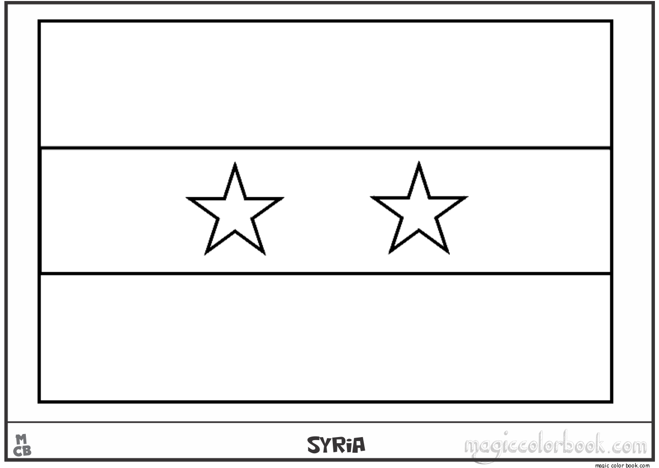 Syria flag coloring pages free | Projects to Try | Pinterest