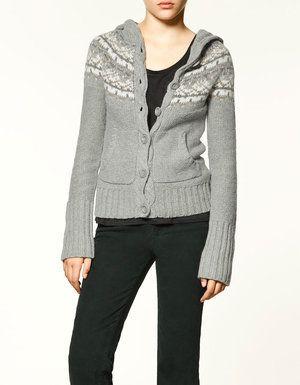 Zara Fairisle Knitted Button Cardigan