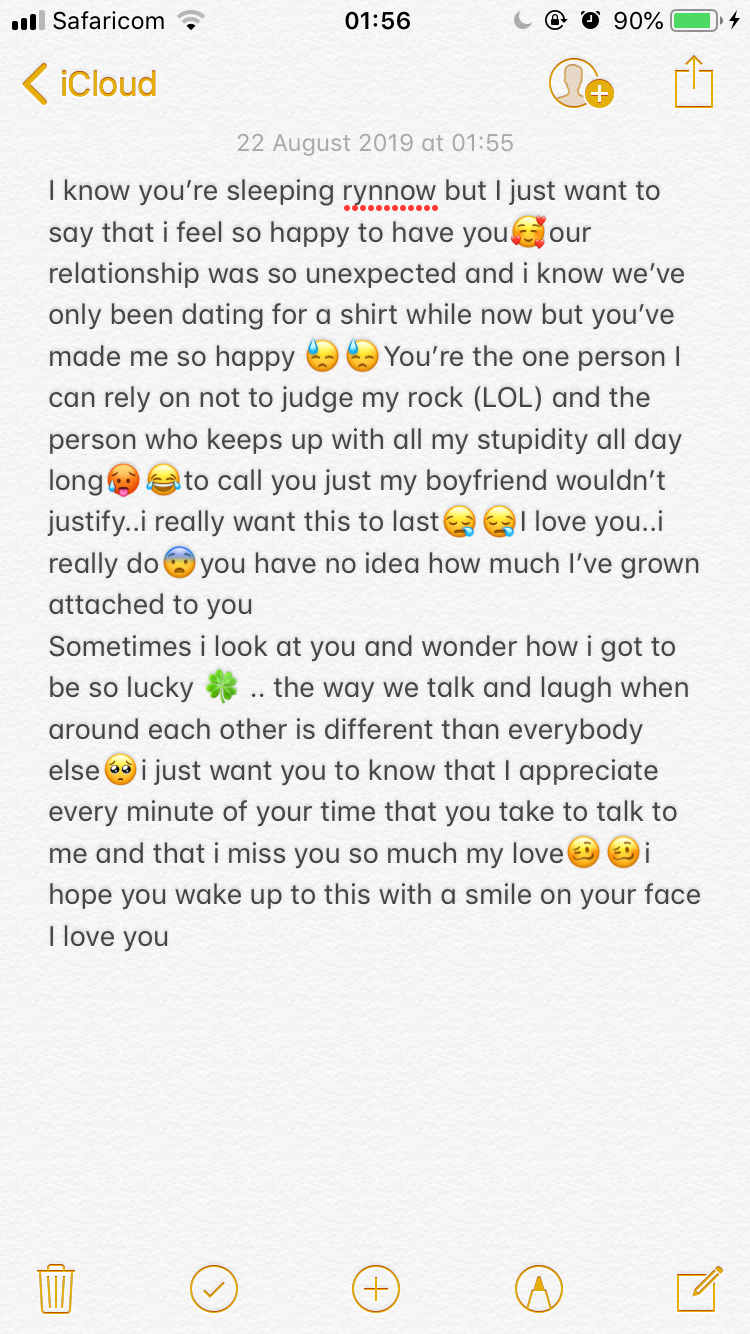 A paragraph for your boyfriend when you miss himA #